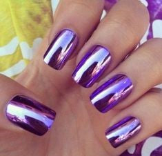 Purple Mirror Chrome nails