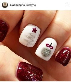Glamorous red Christmas nails