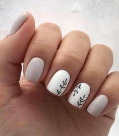 White twig Nail Art