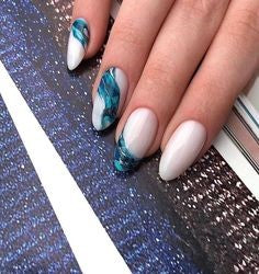 Nail art like a river