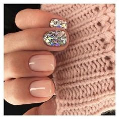 Sequin flower nail art