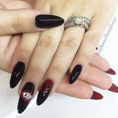 Black and Red Gothic Nail Design