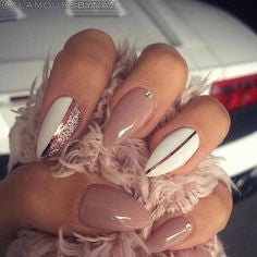 Half Nude Neutral Nail Design