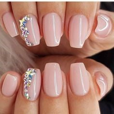 Stickers Neutral Nail Design