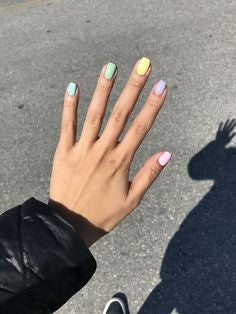 Colorful pastel nail design