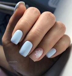 Square Polygon pastel nail design