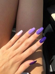 Purple pastel nail design
