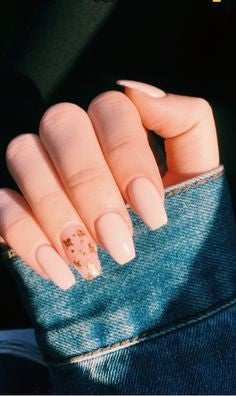 Gold Sequins pastel nail design