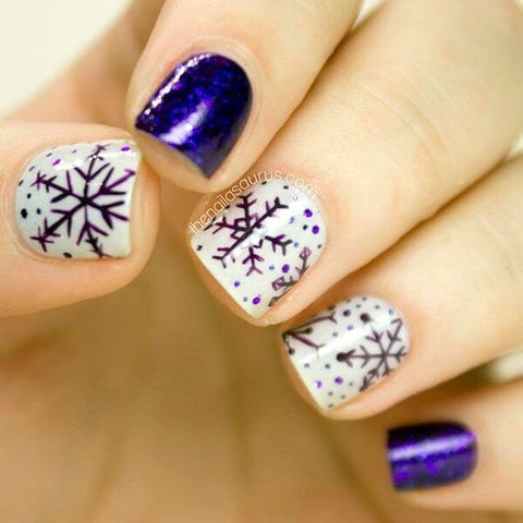 cute winter nail art design-3