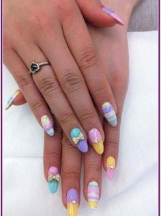 Colorful Easter Nail Design