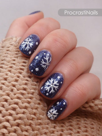 cute winter nail art design-5