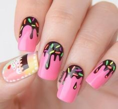 Chocolate Nail Design