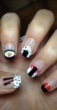 Rice ball Nail Design