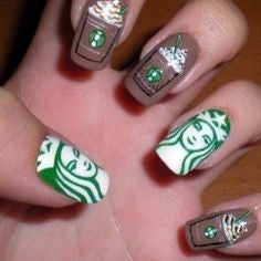 Starbucks Nail Design