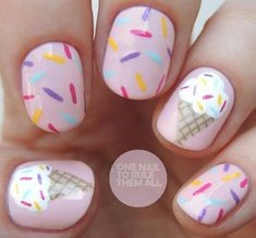 Cute ice cream Nail Design