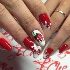 Strawberry Nail Design