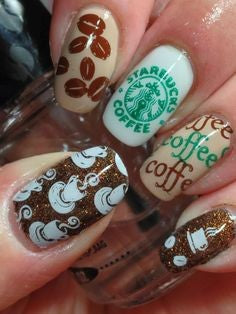 Coffee Nail Design