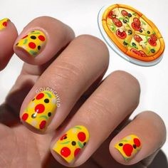 Pizza Nail Design
