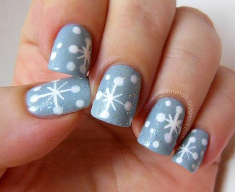 cute winter nail art design-7