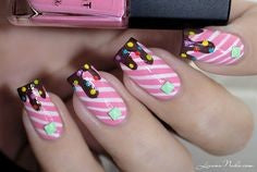 Chocolate Candy Nail Idea