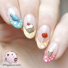 Almond Candy Nail Idea