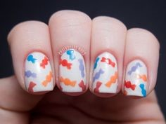 Colorful Candy Nail Idea