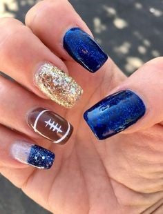 Football Super Bowl Nail Design