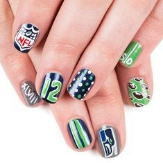 NFL Super Bowl Nail Design