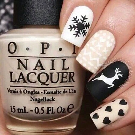 cute winter nail art design-9