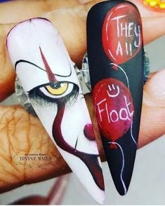 It: Chapter One Halloween Nail Design