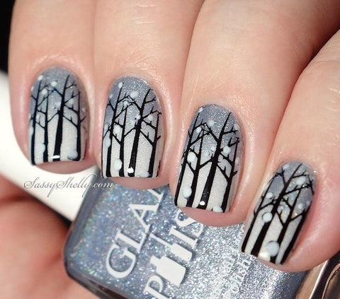 cute winter nail art design-10