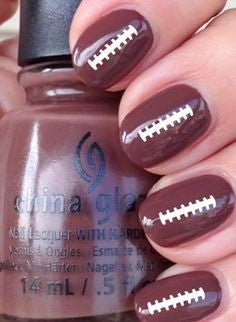 Super Bowl Acrylic Nail Design