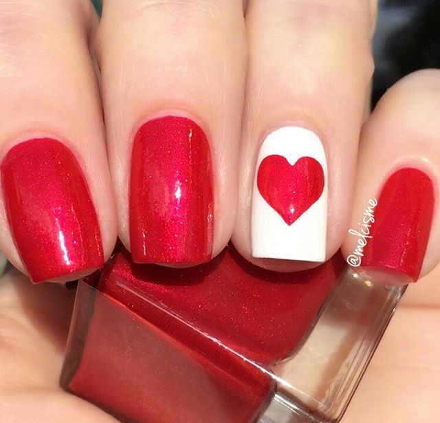 60+ Best Valentine\'s Day Nails Designs for 2018   BeautyBigBang