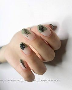 French Plant Nail Design