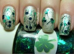 Chrome Plant Nail Design