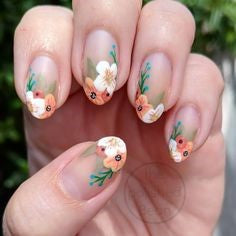 Plant Decals Nail Design