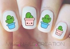 Cute Cactus Nail Design