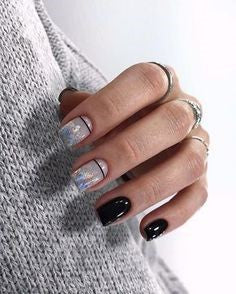 Square Holographic Nail Design