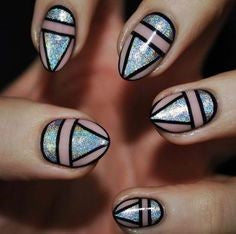 Aztec Holographic Nail Design