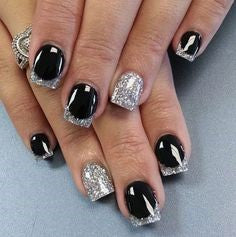 French Silver Nail Design