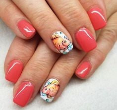 Decals fish nail design