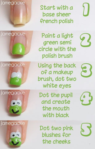 How To Make Cute Frog Nails-Frog Nail Design Tutorial