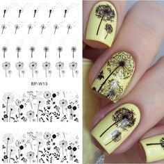 Tree Water Decals Nail Design