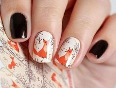 Animal Water Decals Nail Design
