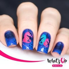 Hippocampus Water Decals Nail Design