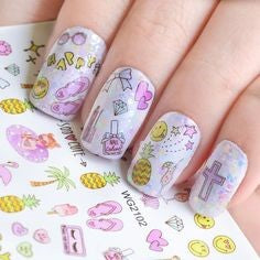 Summer Water Decals Nail Design