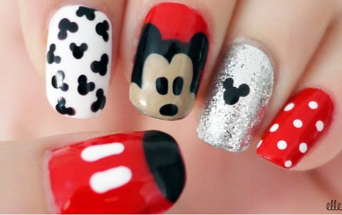 Mikey Mouse Nail Art