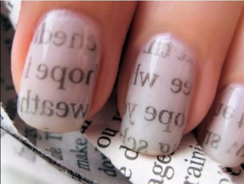 Novel Newpaper Nail Art