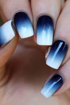 Blue Nail Polish Designs-4 Dark Blue nails