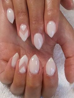 Pointed Acrylic Nail Designs-1